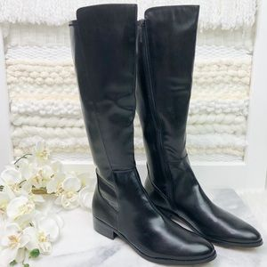 Donald J Pliner Nita Black Knee High Tall Boots 10